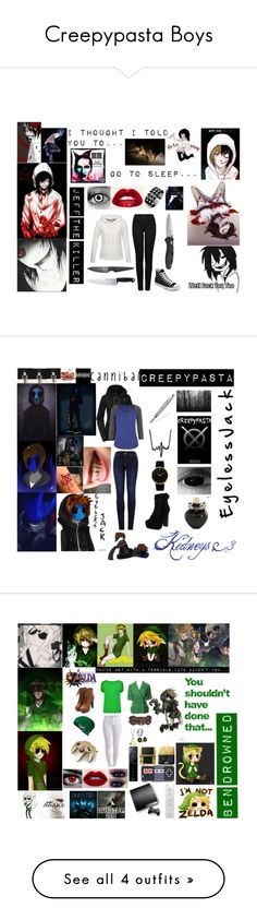 """Creepypasta Boys"" by laughingjacksdaughter on Polyvore"