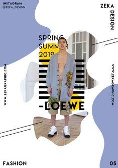 Kreatives Grafikdesign-Plakat Loewe Fashion Collection 05 Zeka Design - Poster Design Collection by Zeka Design - Fashion Graphic Design, Graphic Design Trends, Graphic Design Layouts, Graphic Design Posters, Graphic Design Illustration, Layout Design, Luxury Graphic Design, Minimalist Graphic Design, Poster Designs