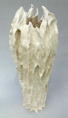 Elizabeth Shriver | Tall Coral Stoneware Vase