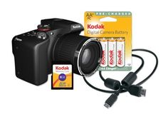 Kodak Z990 EasyShare Max Camera with 30x Optical Zoom and 12 MP (Black)[Bundle w/Memory Card, Rechargeable Batteries, HDMI Cable and Memory Card] by Kodak. $329.95. KODAK EASYSHARE MAX Camera  Overview  Inspiration at your fingertips. Excitement from your pictures. If you love taking pictures, then the KODAK EASYSHARE MAX Camera is exactly what you're looking for. When inspiration strikes, whether in direct sunlight or sitting by a campfire, this high-performa...
