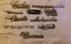 Vintage Lot Metal/Plastic old car auto emblems hot rod rat rod custom #4