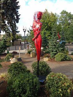 "#Milwaukie City Hall in Milwaukie, ORJen Ellsworth's ""Just Dance"" in the #Milwaukie City Hall Sculpture Garden fairyforge.com/ #MilwaukieArtMOB #Sculpture #Art #JenEllsworth #FairyForge Image courtesy of The City of Milwaukie"