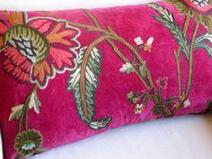 CRANBERRY FIELDS Velvet Large Sofa Pillow Cover 13x26.