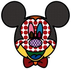 mickey mouse pop art is cute and coulerful Disney Ears, Cute Disney, Disney Mickey, Mickey Mouse Pop Art, Mickey Head, Jasper Johns, Roy Lichtenstein, Andy Warhol, Dali