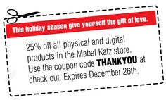 """This Holiday Season give yourself the gift of Truth ✨ As a Holiday Gift, I want to give you a 25% Discount on all my Physical and Digital Products in my Store!  Use the coupon code """"THANKYOU""""   http://store.mabelkatz.com/"""