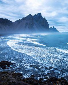 blue hour sunrise. mt vestrahorn, stokksnes. iceland. @icelandair by Tanner Wendell Stewart on 500px