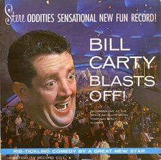 Space Satellite's Outer Space Room - Bill Carty.  So... Bill's flying decapitated head is a strange choice for the cover.