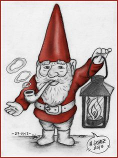 """""""Gnome"""" Sketch-A-Day from 23-01-2013  © 2013 Mauricio Gomez"""