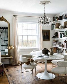 Design Living Room, Dining Room Design, Living Spaces, Cosy Dining Room, Dining Room Office, Design Bedroom, Office Chairs, Decoration Inspiration, Room Inspiration