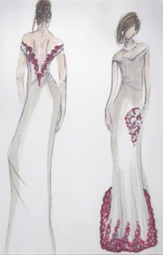 Unique Valentine's Day inspired wedding dress designed and made by ChantelleSophia