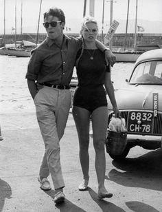 Alain Delon & Brigitte Bardot (1968) - 9GAG