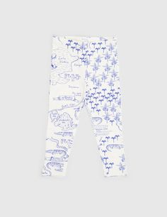 Mini Rodini Croco Map AOP Leggings - White