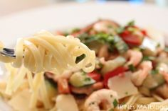 Pasta med paprika, squash og reker - TRINEs MATBLOGG