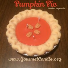 Pumpkin Scented Soy Candle by GourmetCandle on Etsy