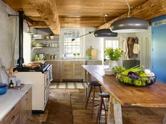 Think your kitchen needs a remodel? The cook space of this overgrown 1700s stone house in New Paltz, New York was welcomed as a challenge to restore the room to its old glory with a few modern upgrades.