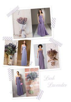 Lavender bridesmaid & wedding bouquet inspiration board.