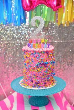 Lisa Frank/Unicorn Birthday Party Ideas | Photo 8 of 25