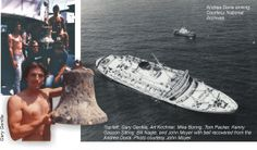 The shipwreck diving the Andrea Doria Shipwreck  in New York and New Jersey's Wreck Valley