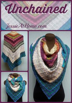 Beautifully Unchained Wrap - Wear this awesome piece as a wrap, a shawl, an infinity scarf or just about anything you need. Its versatility is lovely.