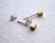 stud brass earring / Etsy / $8.00