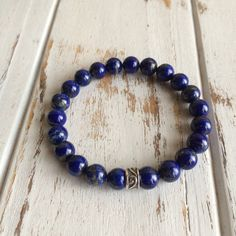 Genuine Lapis Lazuli w/ a Sterling Silver Celtic by PeaceOfMindInc