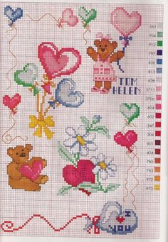 123 Cross Stitch, Baby Cross Stitch Patterns, Small Cross Stitch, Cross Stitch Heart, Cross Stitch Cards, Crochet Stitches Patterns, Cross Stitch Flowers, Cross Stitch Designs, Cross Stitching