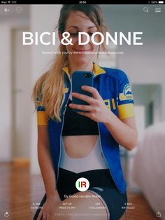 The ultimate Flipboard magazine dedicated to female cyclists - with or without their road bicycles from Bianchi, Cinelli, Pinarello, Colnago or other Italian brands. Find it here: flip.it/pkQZb