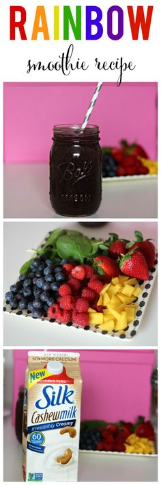 A rainbow a day keeps the doctor away! See how I make this delicious & healthy smoothie in seconds! #Silkbloom #spon @lovemysilk