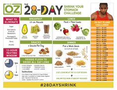 The Dr. Oz Show: The 28-Day Shrink Your Stomach Challenge Instructions