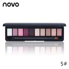 10 Colors Shimmer Matte Eye Shadow Makeup Palette Light Eyeshadow Natural Make Up Cosmetics Set With Brush