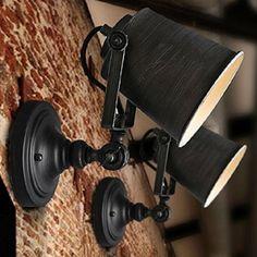 Sanyi Rustic justierbarem einzelnem Light Industrial-Wand-Leuchter-Befestigungs-Lampe Home Decor ohne Gl¨¹hlampe