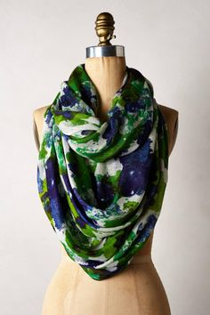 Anthropologie Spring Strokes Infinity Scarf