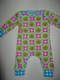 sterren en geruite jersey van Liandlo, jumpsuit patroon van Kiind