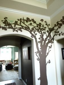 Tree mural- perfect for family tree wall. Where to paint it? Family Tree Mural, Family Tree Wall, Wall Murals, Tree Murals, House Rooms, Old Houses, Home Remodeling, Decor Styles, 3 D