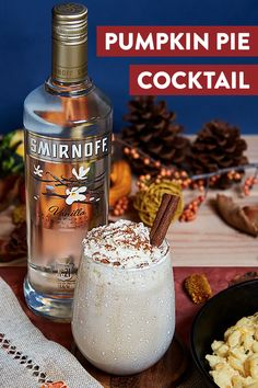 Try this easy and festive Thanksgiving vodka cocktail recipe. It's the perfect drink to get the whole family gathered around the table. Party Drinks, Fun Drinks, Yummy Drinks, Beverages, Thanksgiving Drinks, Holiday Cocktails, Smirnoff, Spiritus, Vodka Cocktails