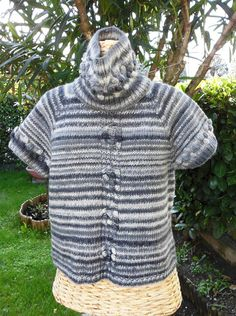 Short sleeved sweater with detachable cowl by Stefily on Etsy