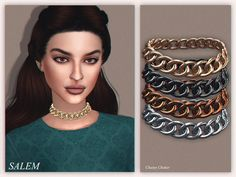 Chainy Choker by Salem C. at TSR • Sims 4 Updates