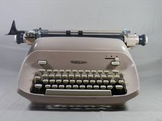 Vintage Royal Empress Typewriter Pink Manual Portable Quiet Deluxe Magic Margin Working 1960s by WesternKyRustic on Etsy
