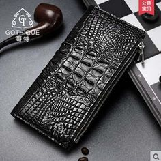 gete 2017 new hot free shipping men Crocodile long wallet more screens double zipper men purse wallet men bags man clutches ** AliExpress Affiliate's Pin.  Click the VISIT button to view the details on AliExpress website