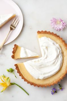 Grapefruit Lemon Tart with whipped cream
