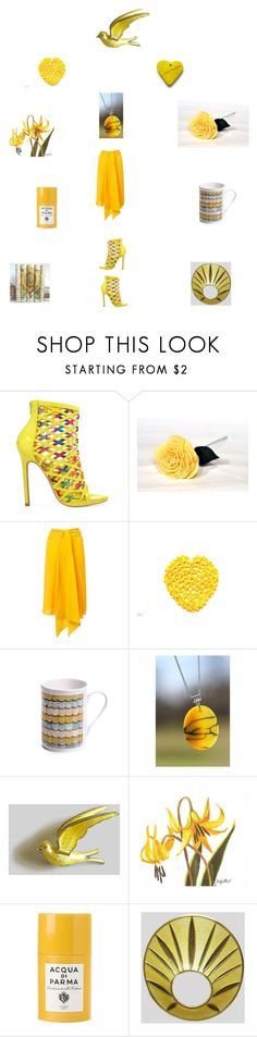 Pretty yellows by einder on Polyvore featuring Mode, Tome, Privileged, Acqua di Parma, Cadeau and vintage