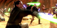 AoC Fight Director Kyle Rowling as a Jedi in Star Wars.