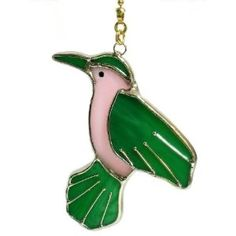 Hummingbird Stained glass ceiling fan pull Ceiling Fan Pull Chain, Ceiling Fan Pulls, Glass Lamps, Glass Ceiling, Stained Glass Birds, Stained Glass Patterns, Hummingbird, Diy And Crafts, Craft Ideas