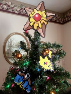 Hey, I found this really awesome Etsy listing at https://www.etsy.com/listing/171175160/tree-topper-staryu-pokemon-tree-topper