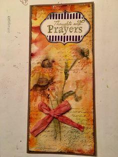 Sympathy card...watercolor penny black stamp