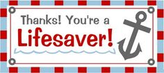 Grab a box of candy, pop on a cute tag, and you can brighten someone's day. They make it really easy to say thank you, good luck, or I love you. (Several tags/candies are at the site.)