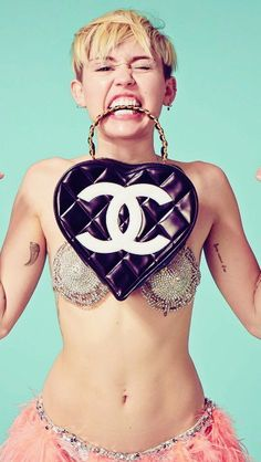 Crazy Miley Cyrus iPhone Wallpaper