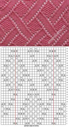 free knitting stitch pattern, chart only, no key b. Lace Knitting Stitches, Lace Knitting Patterns, Knitting Charts, Lace Patterns, Easy Knitting, Loom Knitting, Stitch Patterns, Knitting Machine, Loom Bands