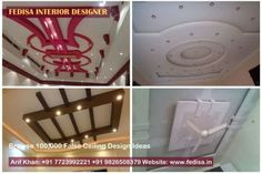 False ceiling design ideas inspiration and pictures Pop Ceiling Design, Roof Design, Gypsum Ceiling, False Ceiling Living Room, Beautiful Living Rooms, Modern Architecture, Designer, Projects, Pictures