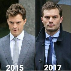 """jamiedornan on Instagram: """"Before /After ..♡ This reminds me ... when Christian was playful vs. Christian pissed…"""""""